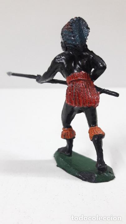 Figuras de Goma y PVC: GUERRERO AFRICANO NEGRO . REALIZADO POR TEIXIDO . SERIE SAFARI . ORIGINAL AÑOS 60 - Foto 5 - 220644493