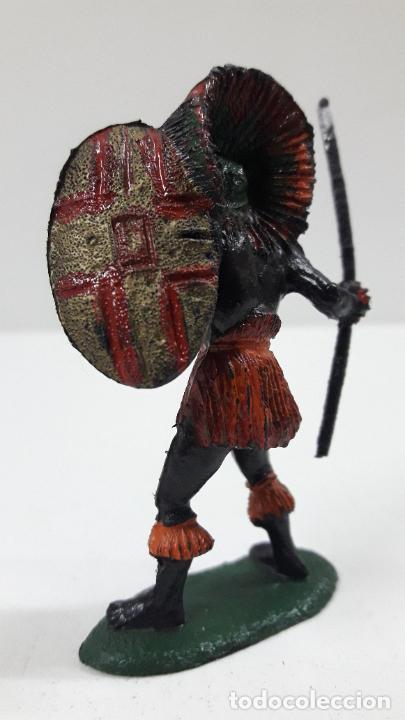 Figuras de Goma y PVC: GUERRERO AFRICANO NEGRO . REALIZADO POR TEIXIDO . SERIE SAFARI . ORIGINAL AÑOS 60 - Foto 6 - 220644562