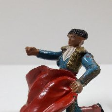 Figuras de Goma y PVC: TORERO DE RRODILLAS TENTANDO AL TORO . REALIZADO POR TEIXIDO . ORIGINAL AÑOS 50 EN GOMA. Lote 220685023