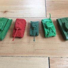 Figuras de Goma y PVC: LOTE MONTAPLEX 5 TANQUES MONTADOS. Lote 220753270