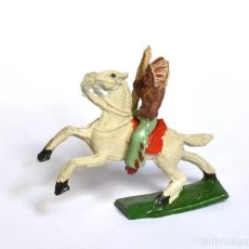 Figuras de Goma y PVC: INDIO CON ARCO A CABALLO ARCLA CAPELL Ó LAFREDO, EN GOMA, CIRCA 1950.. Lote 220761320