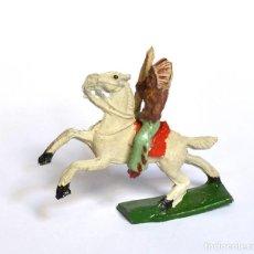 Figuras de Goma y PVC: INDIO CON ARCO A CABALLO ARCLA CAPELL Ó LAFREDO, EN GOMA, CIRCA 1950.. Lote 220761320