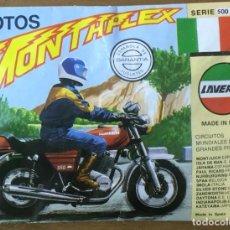 Figuras de Borracha e PVC: MONTAPLEX MOTOS SERIE 500 LAVERDA. Lote 177850664