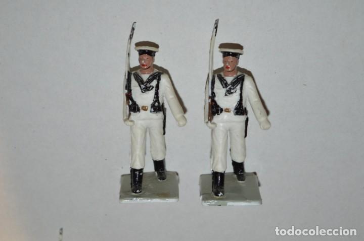 Figuras de Goma y PVC: MARINA / LA ARMADA - Antiguo/vintage - 13 Soldados desfilando - REAMSA y GOMARSA - ¡Mira fotos! - Foto 5 - 220886877