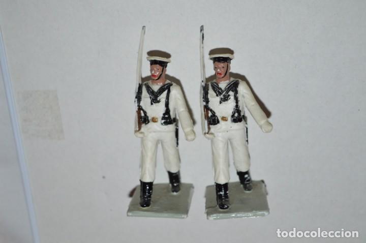 Figuras de Goma y PVC: MARINA / LA ARMADA - Antiguo/vintage - 13 Soldados desfilando - REAMSA y GOMARSA - ¡Mira fotos! - Foto 6 - 220886877