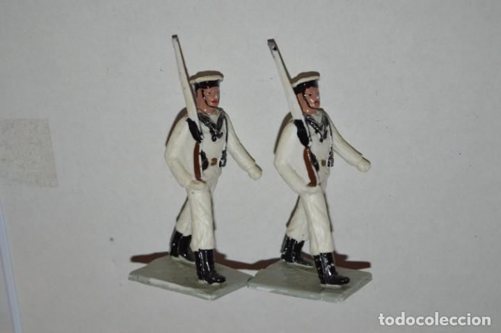 Figuras de Goma y PVC: MARINA / LA ARMADA - Antiguo/vintage - 13 Soldados desfilando - REAMSA y GOMARSA - ¡Mira fotos! - Foto 10 - 220886877