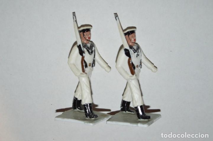 Figuras de Goma y PVC: MARINA / LA ARMADA - Antiguo/vintage - 13 Soldados desfilando - REAMSA y GOMARSA - ¡Mira fotos! - Foto 11 - 220886877