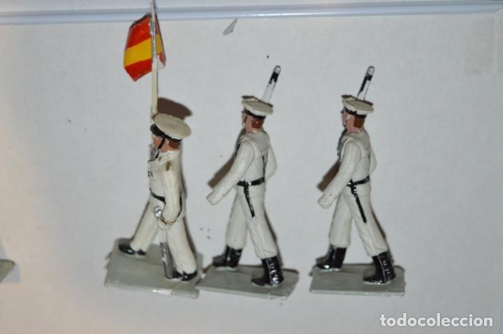 Figuras de Goma y PVC: MARINA / LA ARMADA - Antiguo/vintage - 13 Soldados desfilando - REAMSA y GOMARSA - ¡Mira fotos! - Foto 19 - 220886877