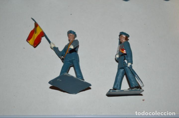 Figuras de Goma y PVC: EJERCITO DEL AIRE - Antiguo/vintage - 13 Soldados desfilando - REAMSA y GOMARSA - ¡Mira fotos! - Foto 20 - 220887811