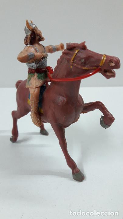 Figuras de Goma y PVC: EL VIKINGO OLAFF PARA CABALLO . SERIE EL CAPITAN TRUENO ESTEREOPLAST . AÑOS 60 . CABALLO NO INCLUIDO - Foto 3 - 220935958
