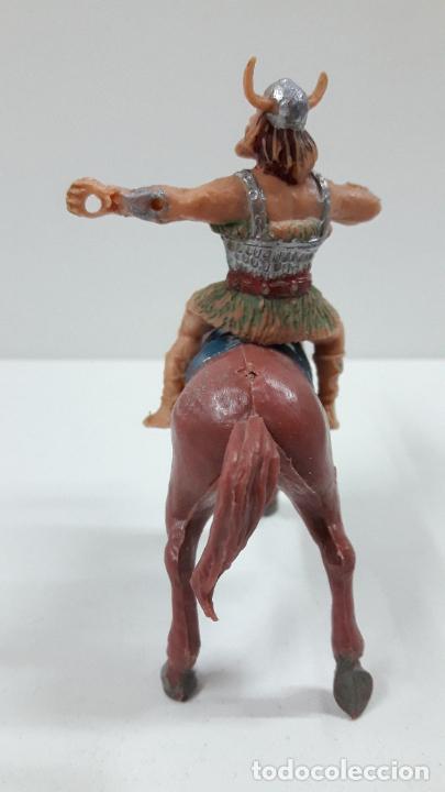Figuras de Goma y PVC: EL VIKINGO OLAFF PARA CABALLO . SERIE EL CAPITAN TRUENO ESTEREOPLAST . AÑOS 60 . CABALLO NO INCLUIDO - Foto 5 - 220935958
