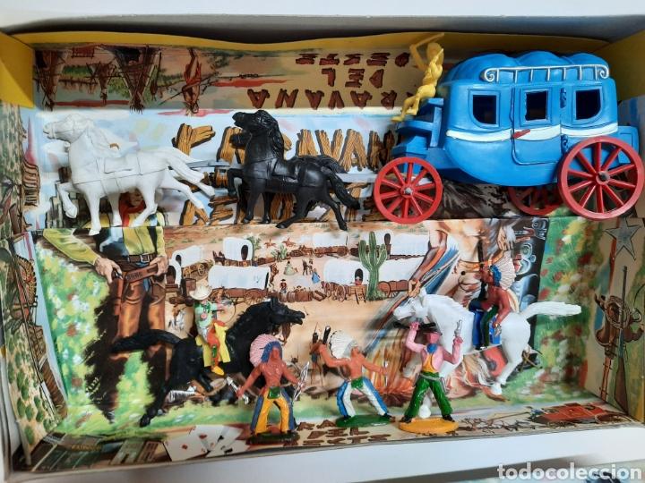 Figuras de Goma y PVC: CAJA CARAVANA DEL OESTE / SOTORRES/ COMPLETA / R/C 21 DILIGENCIA - Foto 2 - 221148365