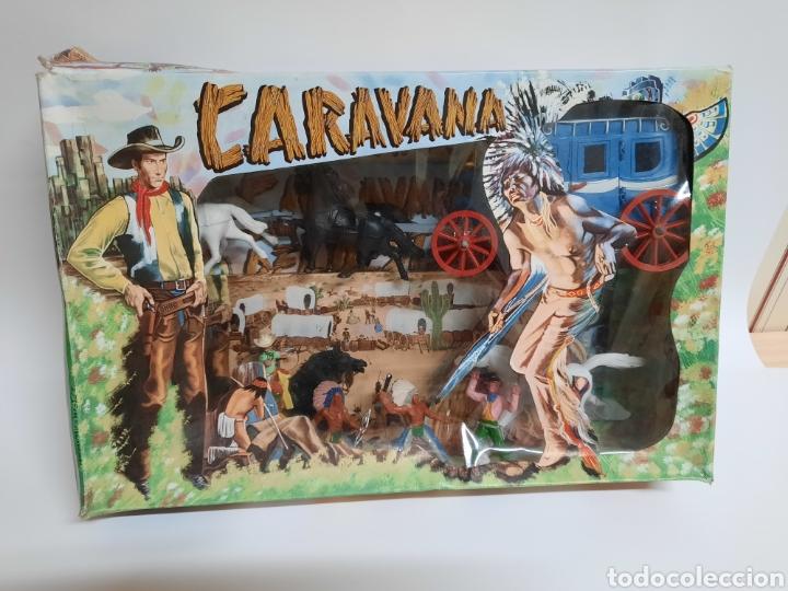 CAJA CARAVANA DEL OESTE / SOTORRES/ COMPLETA / R/C 21 DILIGENCIA (Juguetes - Figuras de Goma y Pvc - Sotorres)