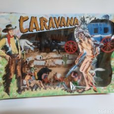 Figuras de Goma y PVC: CAJA CARAVANA DEL OESTE / SOTORRES/ COMPLETA / R/C 21 DILIGENCIA. Lote 221148365