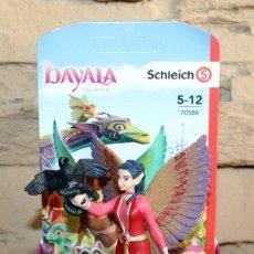 Figuras de Goma y PVC: BAYALA - SCHLEICH - NURAY CON CUERVO MUNYN - 70586 - NUEVO Y EN SU CAJA ORIGINAL. Lote 221272080