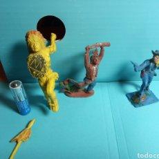 Figuras de Goma y PVC: INDIOS Y VAQUEROS ESTILÓ COMANSI REAMSA TEIXIDO PECH LAFREDO. Lote 221295586