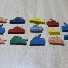 Figuras de Goma y PVC: 14 FIGURAS DE TEMATICA MILITAR. TIPO MONTAPLEX O SIMILAR. MÁX. 3 CM DE LARGO ALGUNAS. VER FOTOS.. Lote 221338475