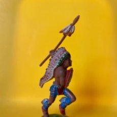 Figuras de Goma y PVC: GUERRERO INDIO . REALIZADO POR LAFREDO . AÑOS 60 . SERIE GRANDE. Lote 221394931