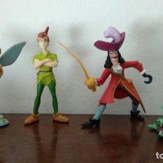 Figuras de Goma y PVC: LOTE DE 4 FIGURAS PETER PAN - DISNEY - BULLYLAND - VER FOTOS. Lote 221396410