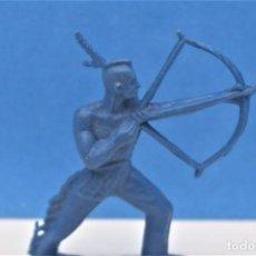 Figuras de Goma y PVC: ANTIGUA FIGURA DEL OESTE EN PLÁSTICO. INDIO MOHICANO. CANAL PIPERO. AÑOS 70. Lote 221410157
