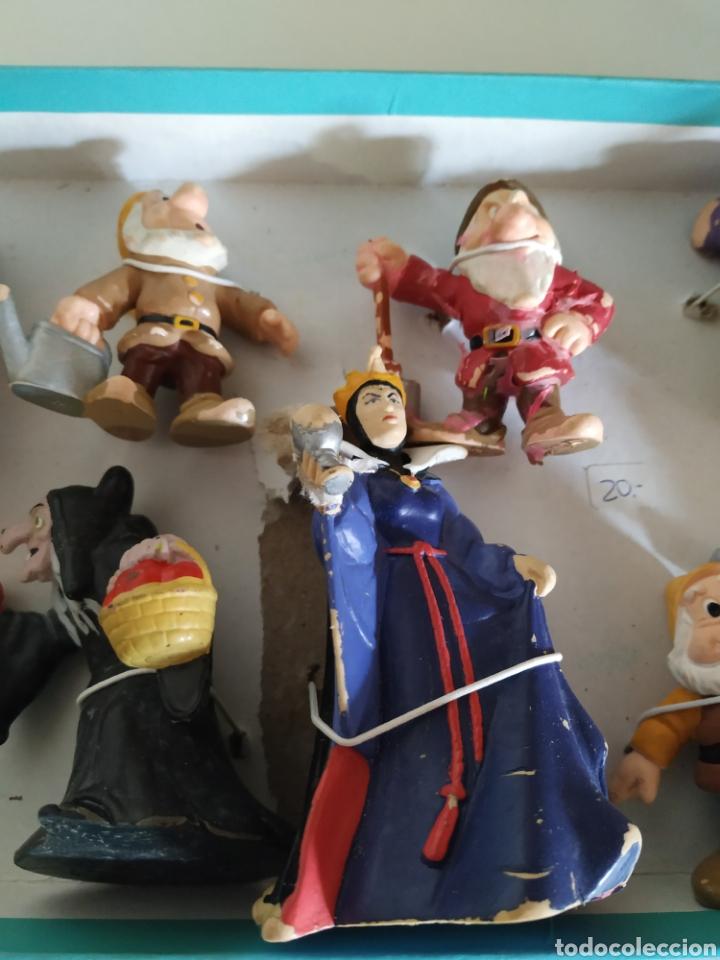 Figuras de Goma y PVC: 10 figuras de goma Blancanieves - Foto 3 - 233368865