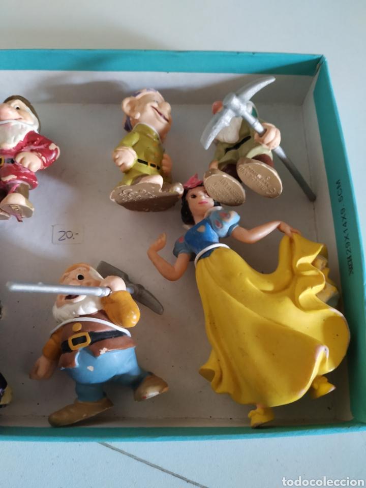 Figuras de Goma y PVC: 10 figuras de goma Blancanieves - Foto 4 - 233368865