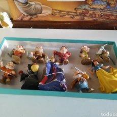 Figuras de Goma y PVC: 10 FIGURAS DE GOMA BLANCANIEVES. Lote 233368865
