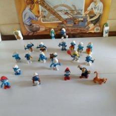 Figuras de Goma y PVC: 21 FIGURA DE GOMA DE LOS PITUFOS. Lote 221446027