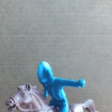 Figuras de Goma y PVC: VAQUERO COMANSI A CABALLO. Lote 221563305
