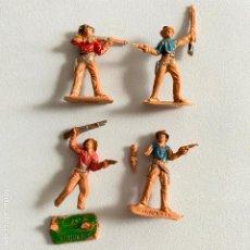 Figuras de Goma y PVC: LOTE 4 MUÑECOS-FIGURAS VAQUEROS DE COMANSI DE MINI OESTE-MINIOESTE. Lote 221648645