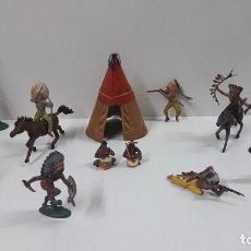 Figuras de Borracha e PVC: NO COMPRAR - RESERVADO A*****A . INDIOS DE PECH . AÑOS 50. Lote 221681805