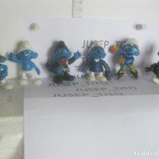 Figuras de Goma y PVC: LOTE 6 FIGURAS PITUFOS VARIADAS PVC SCHLEICH LAS DE LAS FOTOS VER FOTOS ADICIONALES DEL LOTE. Lote 221682855