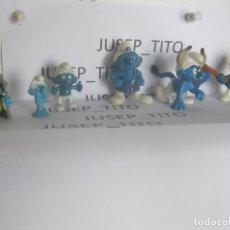 Figuras de Goma y PVC: LOTE 6 FIGURAS PITUFOS VARIADAS PVC VARIAS MARCAS LAS DE LAS FOTOS VER FOTOS ADICIONALES DEL LOTE. Lote 221683128