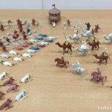 Figuras de Borracha e PVC: LOTE DE 80 SOLDADITOS MONTAPLEX - GRUPO DE COMBATE ÁRABES BEDUÍNOS Nº 102. Lote 221696031