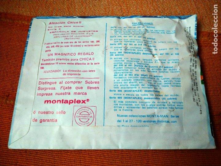 Figuras de Goma y PVC: MONTA- MAN EXTRA 28. MONTA PLEX. SOBRE CERRADO, NUEVO. - Foto 2 - 221700617