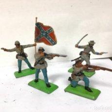 Figuras de Goma y PVC: SOLDADO CONFEDERADO BRITAINS ABANDERADO GENERAL GUERRA SECESION CIVIL AMERICANA YANKEES FEDERAL. Lote 221733326