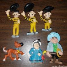 Figuras de Goma y PVC: LOTE FIGURAS PVC GOMA DALTON COLECCIÓN DE LUCKY LUKE SCHLEICH AÑO 84 MUÑECOS DIBUJOS ANIMADOS. Lote 221733771