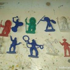 Figuras de Borracha e PVC: LOTE DE FIGURAS PVC COMANSI PRIMERA EPOCA INDIOS VAQUEROS SHERIFF CAWBOY. Lote 221749362