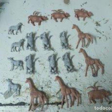 Figuras de Goma y PVC: LOTE DE FIGURAS PVC COMANSI PRIMERA EPOCA ZOO ANIMALES GIRAFA OSO POLAR ÑUS. Lote 221749911