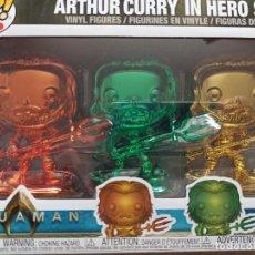 Figuras de Goma y PVC: FUNKO POP! HEROES: DC AQUAMAN - ARTHUR CURRY IN HERO SUIT (3 PACK). Lote 221753868