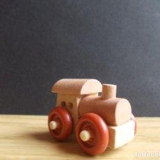 Figuras Kinder: FIGURA COLECCIÓN HUEVO KINDER K96 Nº 129 TREN LOCOMOTORA MADERA. Lote 221797390