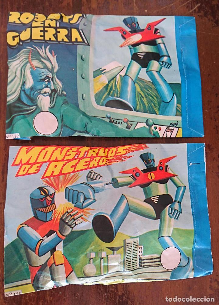 SOBRES SORPRESA FIGURAS BOOTLEG MAZINGER Z AÑOS 80 ROBOTS EN GUERRA MONSTRUOS DE ACERO PVC MONTAPLEX (Juguetes - Figuras de Goma y Pvc - Montaplex)