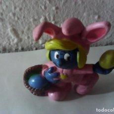 Figuras de Goma y PVC: PITUFINA PASCUA. Lote 221927952