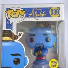 Figuras de Goma y PVC: FUNKO POP! GENIE 539 - ALADDIN - (GITD) + CAJA PROTECTORA. Lote 221951053