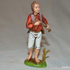 Figuras de Goma y PVC: FLAUTISTA. FIGURA PARA BELÉN. M. LANDI. MORANDUZZO. ITALIA. ROMANJUGUETESYMAS.. Lote 221958048