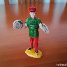 Figuras de Goma y PVC: JECSAN-MUSICO CON PLATILLOS DEL CIRCO-FABRICADO EN GOMA. Lote 221999987