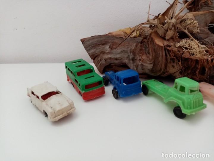Figuras de Goma y PVC: LOTE ANTIGUOS VEHICULOS DE PLASTICO KIOSKO QUIOSCO PIPERO - Foto 2 - 222013085