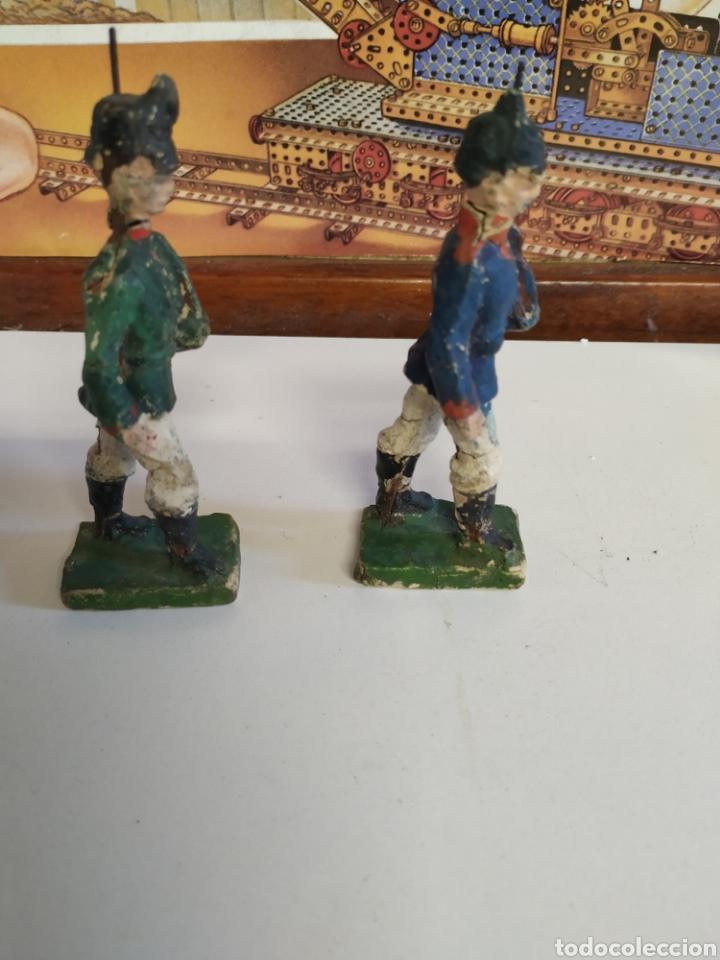 Figuras de Goma y PVC: 2 antiguas figuras elastolin años 20 - Foto 2 - 222013420