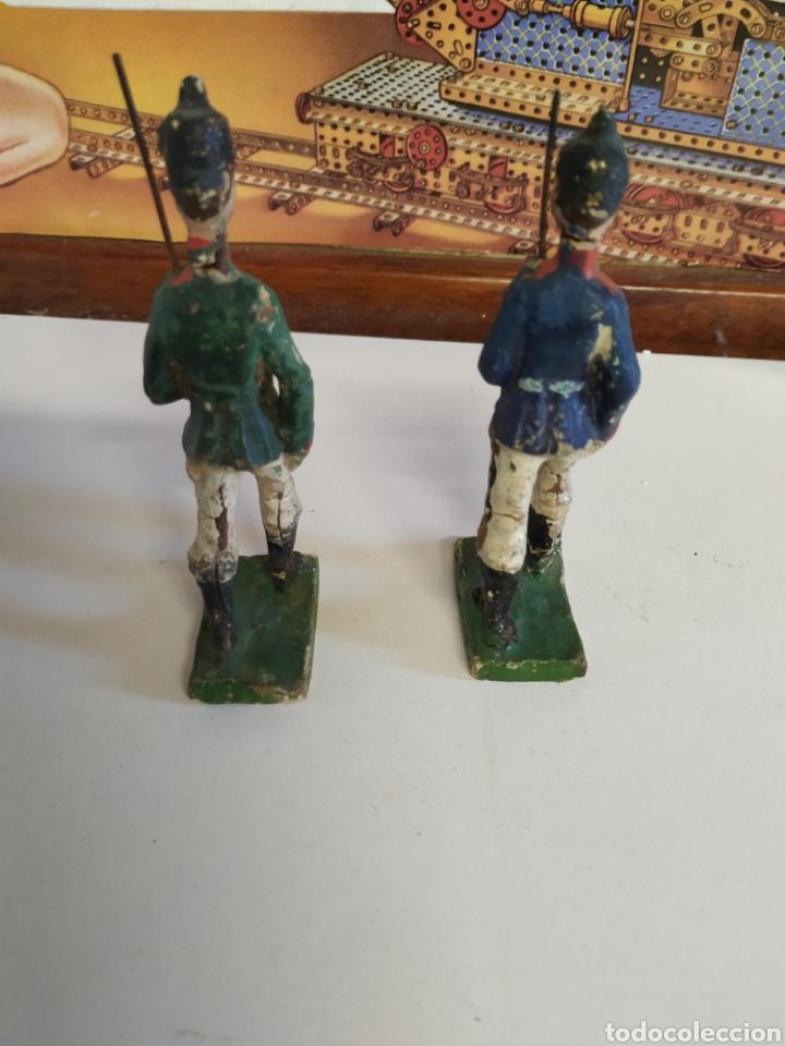 Figuras de Goma y PVC: 2 antiguas figuras elastolin años 20 - Foto 3 - 222013420