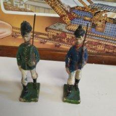Figuras de Goma y PVC: 2 ANTIGUAS FIGURAS ELASTOLIN AÑOS 20. Lote 222013420
